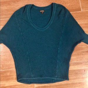 Express XS Dolman Knit Sweater Teal
